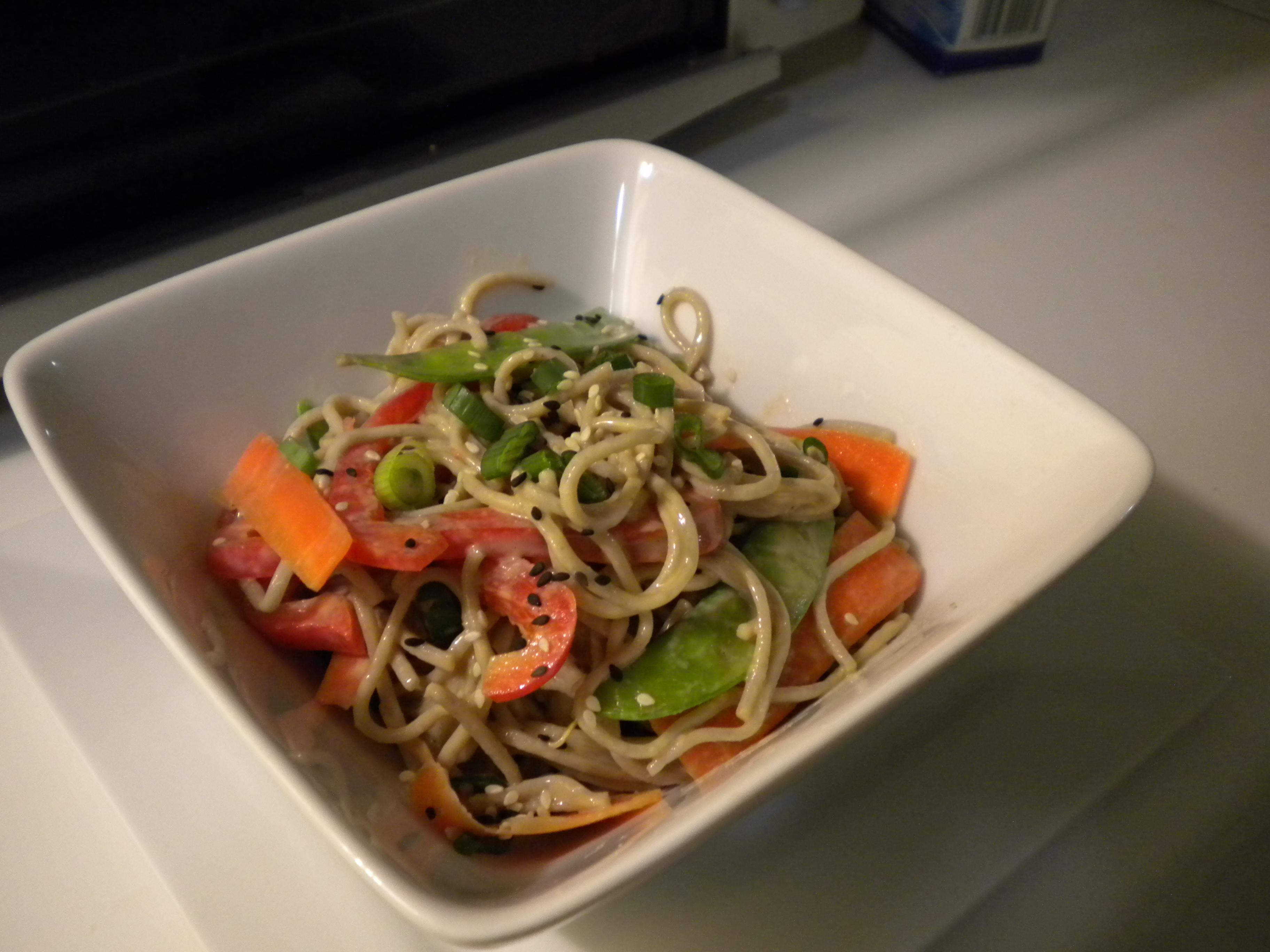 Soba Salad with a Spicy Sesame-Tahini Dressing | Vegan Eats